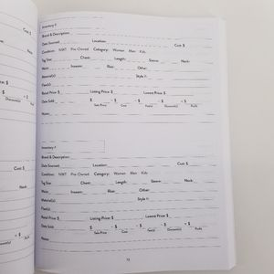 Wild Simplicity Office - Reseller Inventory Log Product Listing Notebook